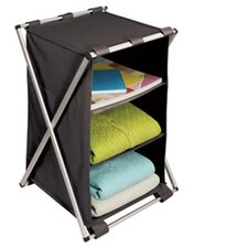 Free Standing Storage X-Frame 3 Shelf Storage Compartment