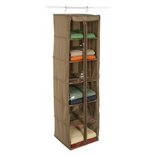 <strong>Richards Homewares</strong> Cedar Inserts Canvas 6 Shelf Hanging Organizer