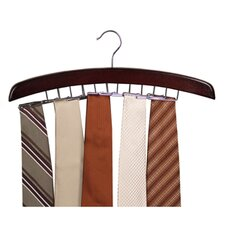 <strong>Richards Homewares</strong> Closet Accessories 24 Tie Hardwood Hanger