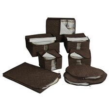 <strong>Richards Homewares</strong> Tabletop Micro Fiber 8-Piece Dinnerware Storage Set