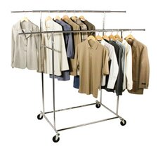 Free Standing Storage Double Parallel KD Garment Rack
