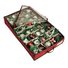 Holiday Green Trim 40 Cell Underbed Ornament Chest