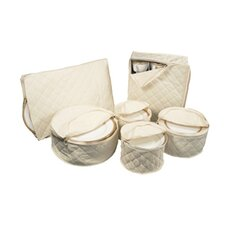 <strong>Richards Homewares</strong> 6 Piece Tabletop Cotton Dinnerware Storage Set