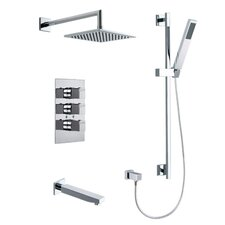 Kuatro Rectangle Shower Set
