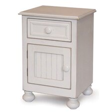 Beadboard 1 Drawer Nightstand