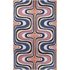 Dreamscape Ultramarine Blue/Pink Area Rug