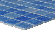 "Nieve 12-1/5"" x 18-1/10""  Glass Mosaic in Azul Cielo"