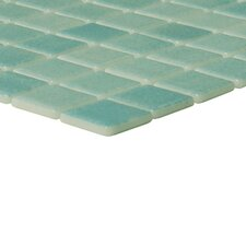 "Nieve 1"" x 1"" Glass Mosaic in Verde"