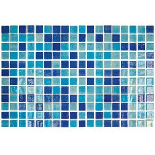 "Colour Blend 1"" x 1"" Glass Mosaic in Piscis"