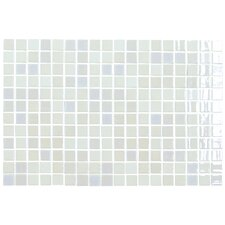 "Opalo 12-1/5"" x 18-1/10"" Glass Mosaic in White"