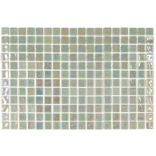 "Opalo 12-1/5"" x 18-1/10"" Glass Mosaic in Menta"