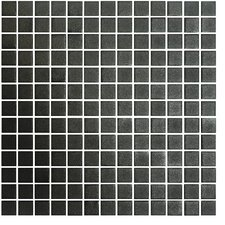 "Stone Glass 1"" x 1"" Mosaic in Black"