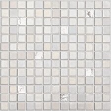 """Fuse FU013 1"""" x 1"""" Glass Textured Mosaic in White"""