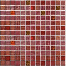 "Fuse Glass FU050 13"" x 13"" Glass Mosaic in Red"