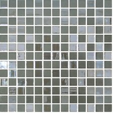"Stone Glass Opalo 13"" x 13"" Mosaic in Grey"