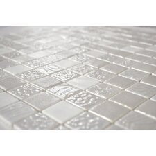 "<strong>Onix USA</strong> Shading Blend Markina 104-7/8"" x 13-1/10"" Glass Mosaic in White"