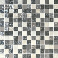 "Nature Blend 1"" x 1"" Glass Mosaic in Atlantico"