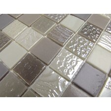 "Nature Blend 1"" x 1"" Glass Mosaic in Negev"