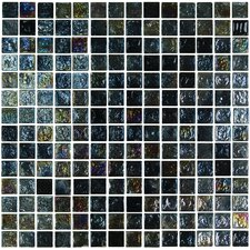 "Geo Glass Square 11-4/5"" x 11-4/5""  Glass Mosaic in Black"