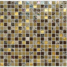 "Crystone CS004 3/5"" x 3/5"" Stone and Glass Mosaic"
