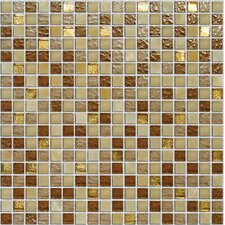 "Crystone CS006 11-4/5"" x 11-4/5"" Stone and Glass Mosaic"