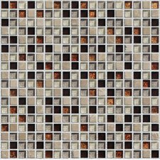 "Crystone CS008 3/5"" x 3/5"" Stone and Glass Mosaic"