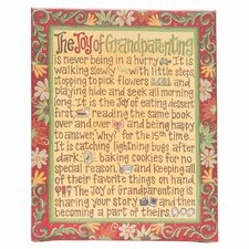 Joy of Grandparenting Table Top Textual Art on Canvas