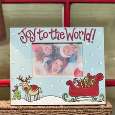 Joy To The World Reindeer Picture Frame