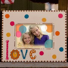 """Love"" Polka Dotted Picture Frame"