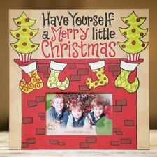 Merry Little Christmas Fireplace Picture Frame
