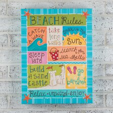 Beach Rules Canvas
