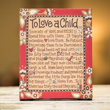 To Love A Child Table Top Canvas