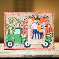 Pumpkin Truck Clip Canvas Picture Frame