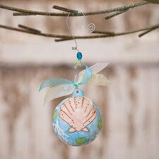 Beach Shell Ball Ornament