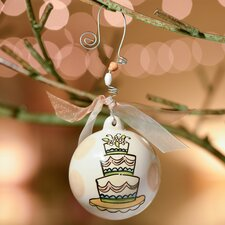 Wedding Cake Ball Ornament