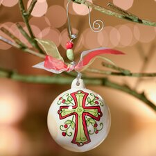 Cross Ball Ornament