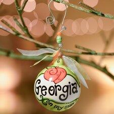 Georgia On My Mind Ball Ornament