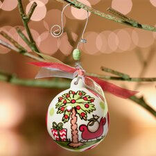 Palm Tree and Sleigh Ball Ornament