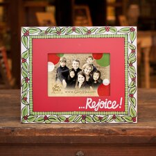 """Rejoice"" Christmas Picture Frame"