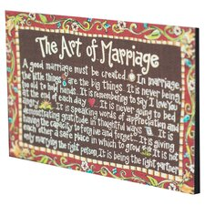 Art of Marriage Magnet Textual Art on Canvas