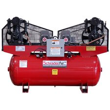 Duplex Professional Series Two Stage 5HP 120 Gallon Horizontal Air Compressor