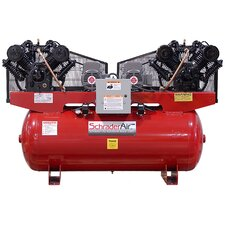 Duplex Professional Series Two Stage 7.5 HP 120 Gallon Horizontal Air Compressor