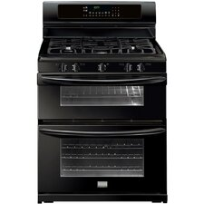 "Gallery Series 30"" Gas Freestanding Range with True Convection Double Oven"