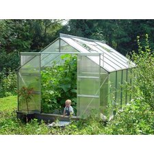 "Compact 7' 3"" H x 14'6"" W x 9'1"" D Polycarbonate Greenhouse"