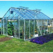 "Gardener 8' 8"" H x 16'6"" W x 11'9"" D Polycarbonate Commercial Greenhouse"