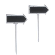Wood Chalkboard Arrow Sign (Set of 2)