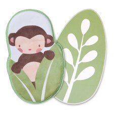 Heirloom 2 Piece Monkey/Leaf Changing Pad Liner