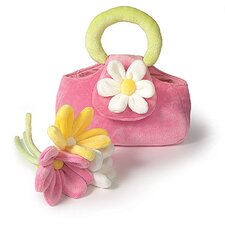 Three Gerber Daisy Flowers Purse