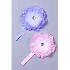 Rhinestons Flower Headband (Set of 2)