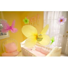 Girls Nursery Room 3D Wall Décor (Set of 5)